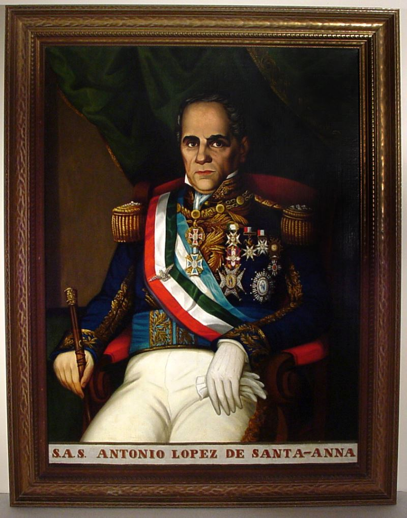 sas antonio lopez de santa anna portrait of santa anna seated in