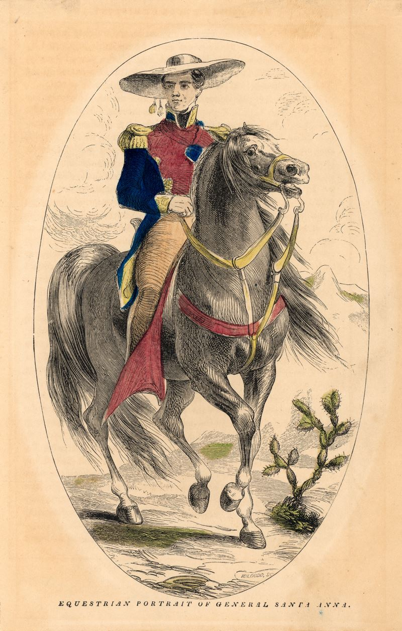 equestrian portrait of general santa anna