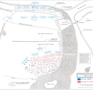 Maps Of The Battle Of San Jacinto Through The Years From Various - Battle of san jacinto map