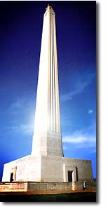 San Jacinto Monument brochure, with photo of monument